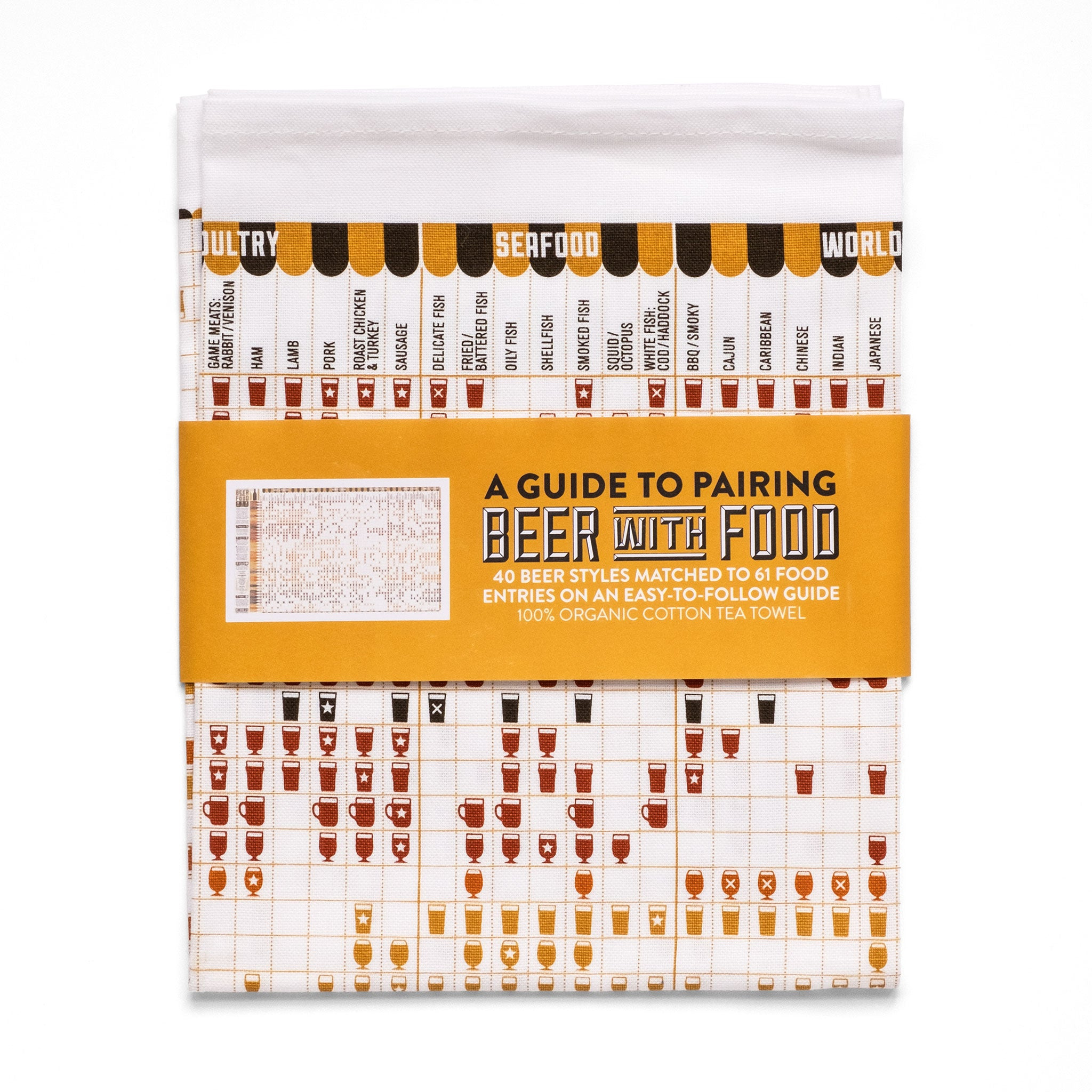A Guide To Pairing Beer With Food Tea Towel