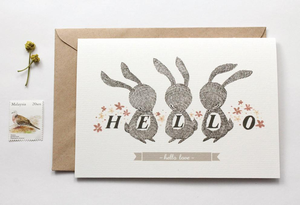 WW-GC#9 - Hello Love Greeting Card