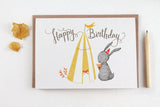 WW-GC#18 - Happy Birthday, Bunny Greeting Card