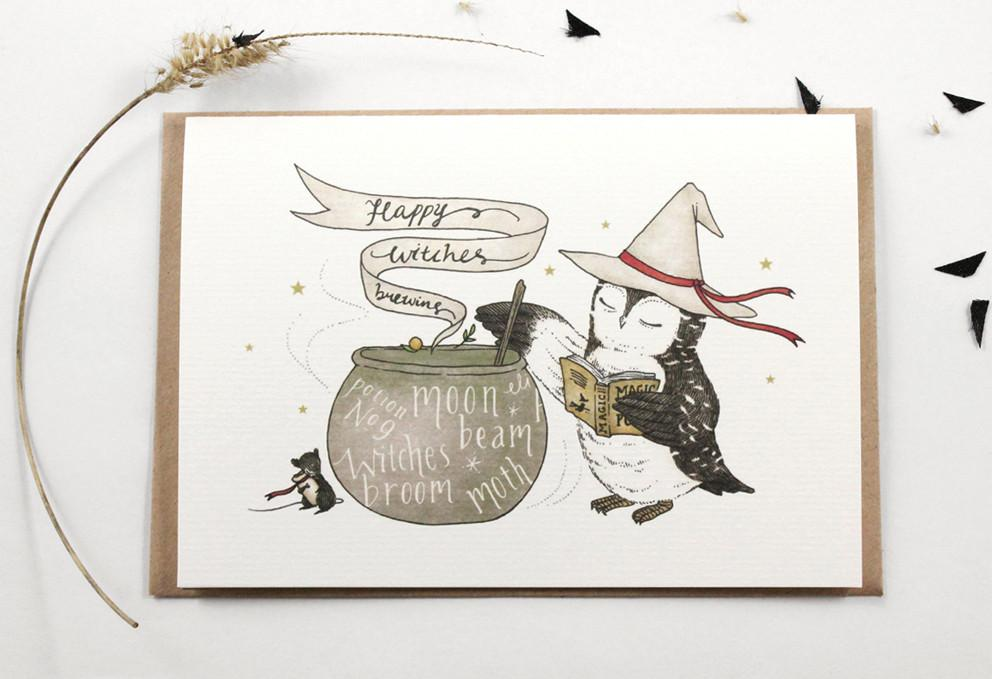 WW-HGC#3 - Happy Witches Brewing Greeting Card