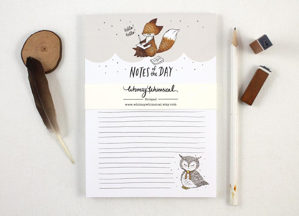 WW-NP#1 - Notes of the Day Notepad