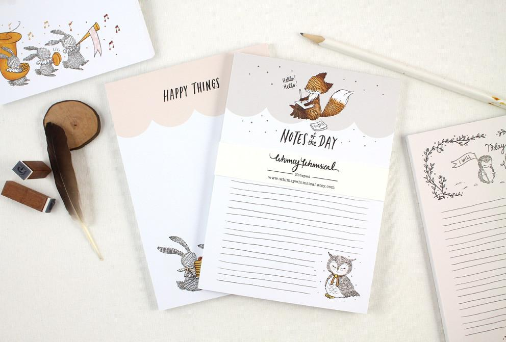 WW-NP#2 - Happy Things Notepad