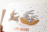 WW-XGC#17 - Happy Holidays, Copper Foil Greeting Card