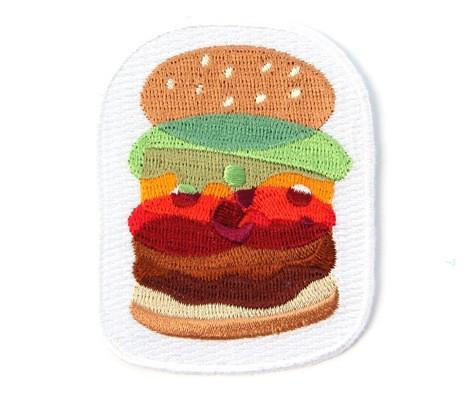 Burger Iron On Patch