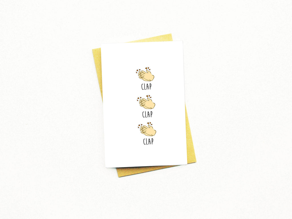 Clap Clap Clap Greeting Card