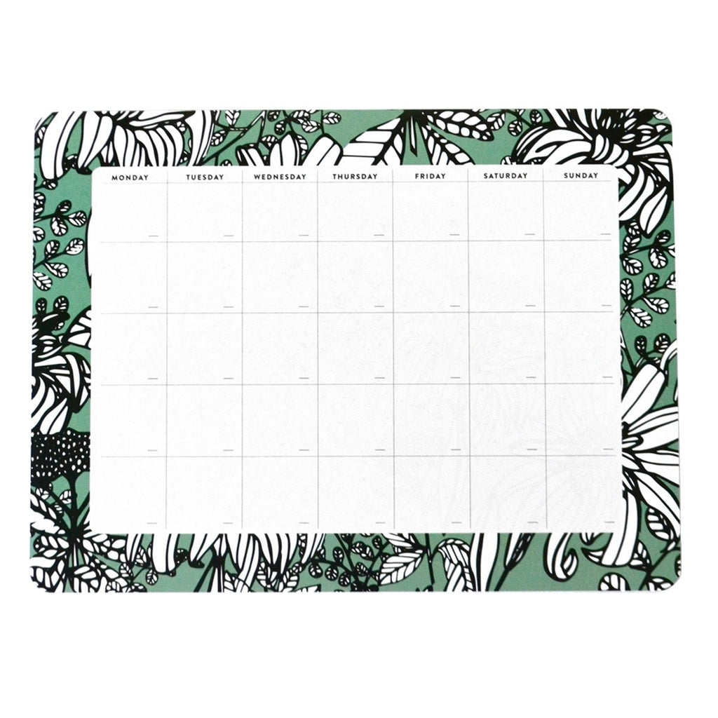 Seafoam Green Monthly Desk Planner