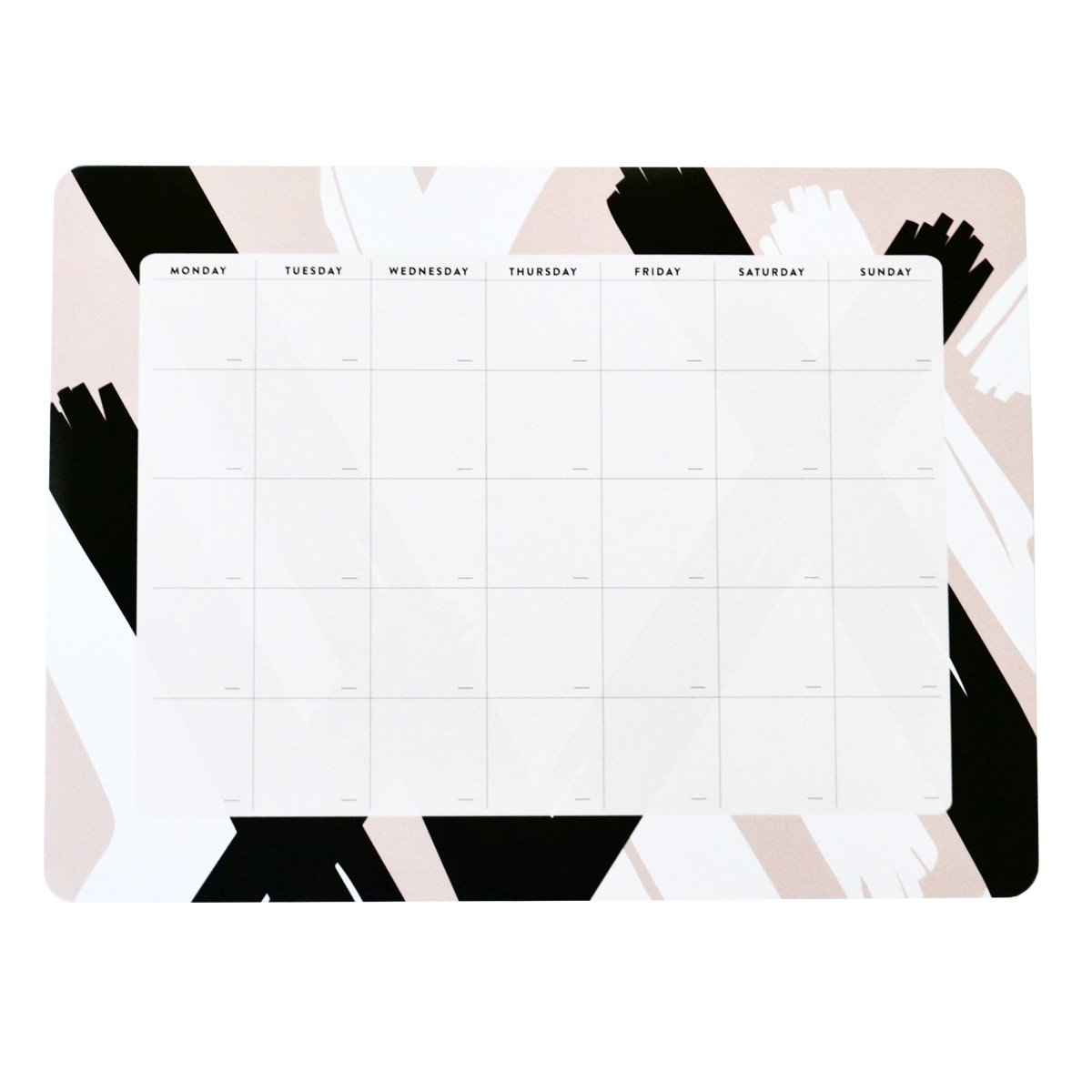 Pink Brushes Monthly Desk Planner