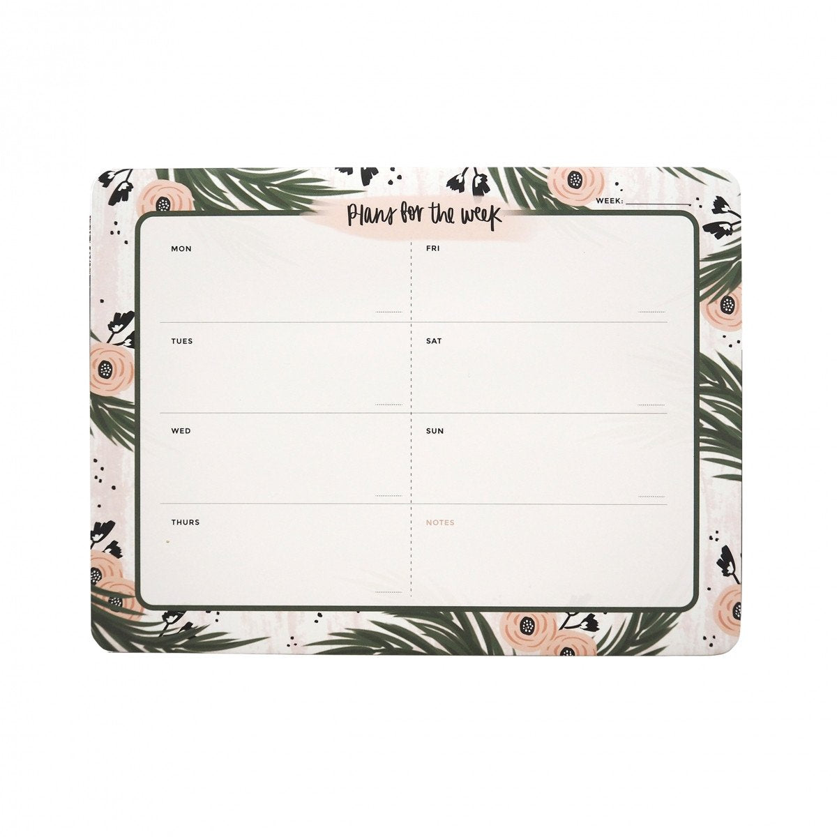 Forest Florals Weekly Desk Planner