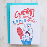 Heir-Raising (Baby Shower) Card