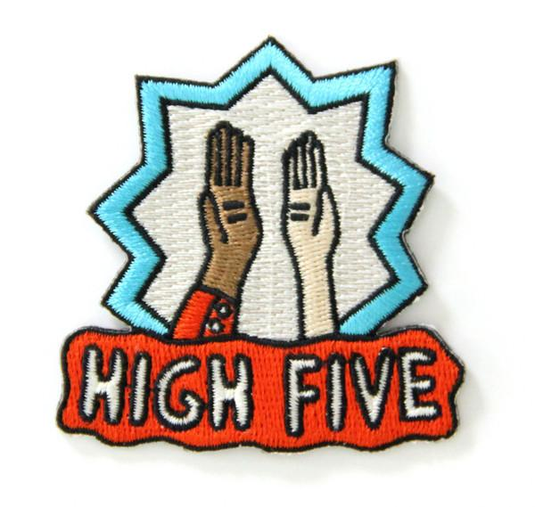High Five Iron On Patch