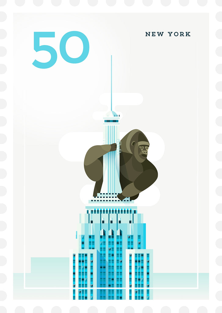 A3 Poster - Stamp, New York