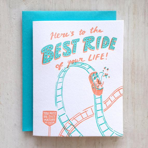 Marriage Best Ride Greeting Card
