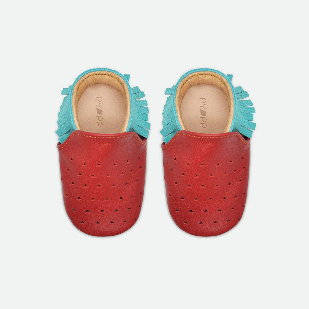 Fruit Moccasin Shoes - Strawberry