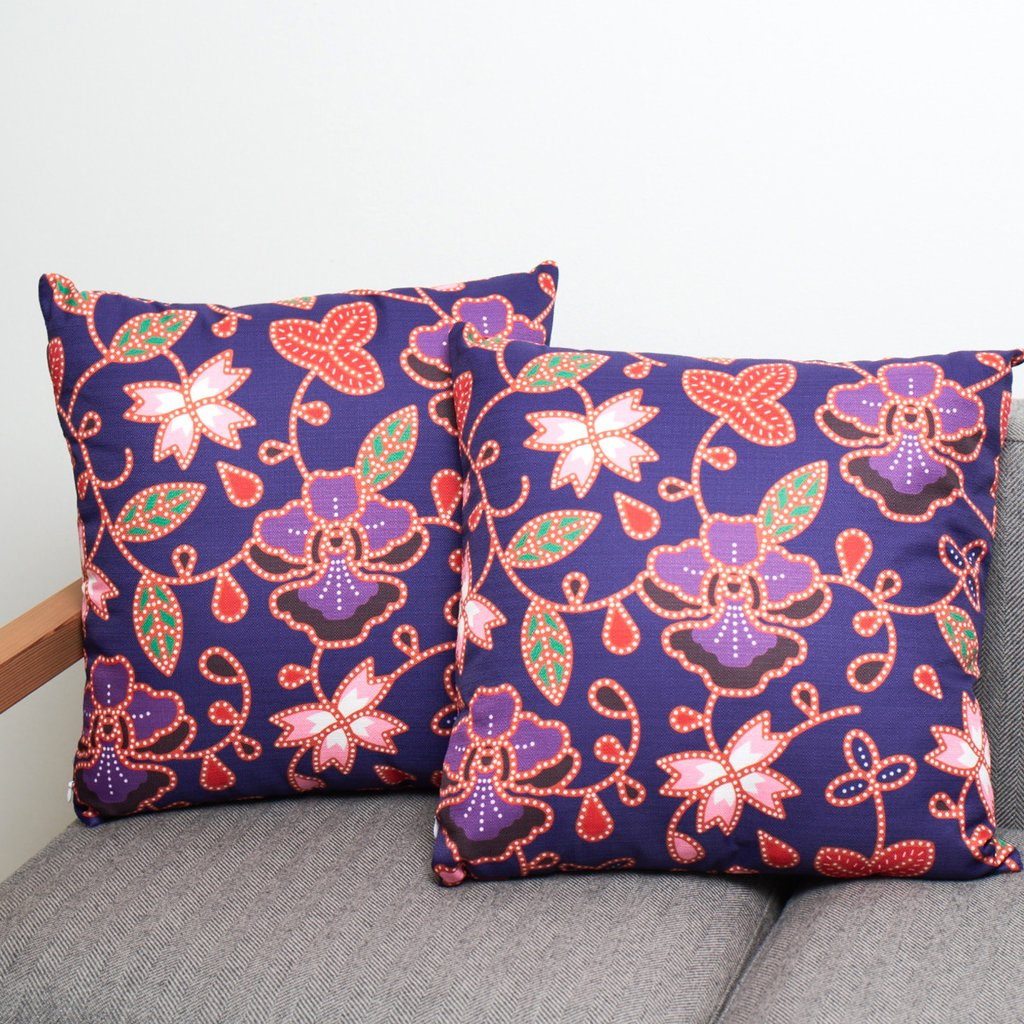 Orchid Kebaya Cushion