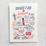 Things I Did In London Postcard