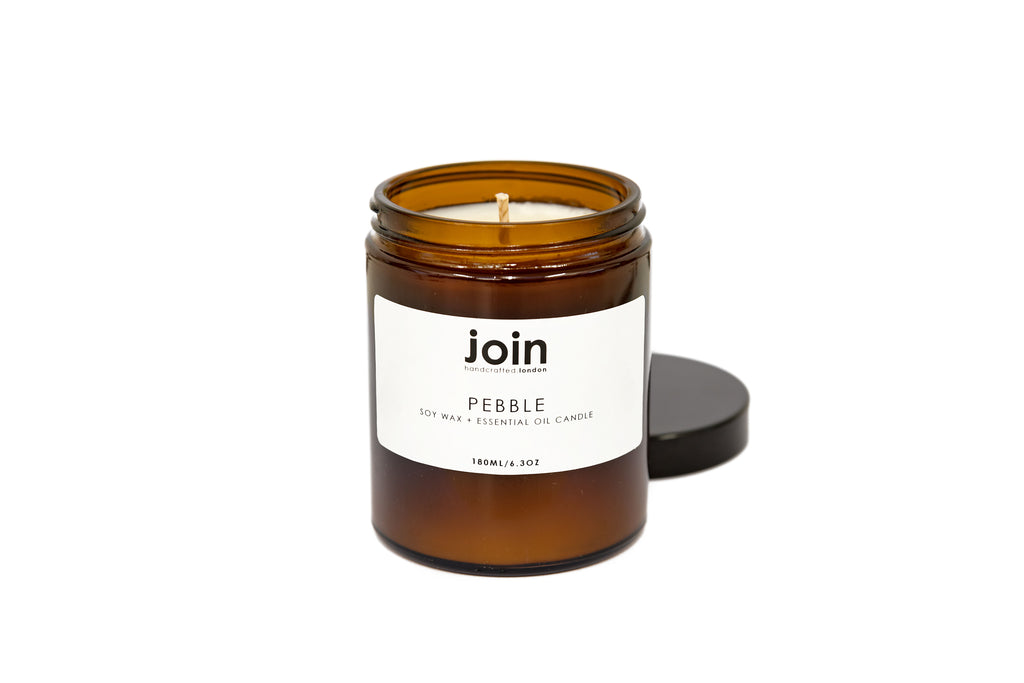 Pebble Soy Wax + Essential Oil Candle