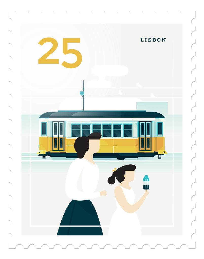 Mini Art Print - Stamp, Lisbon