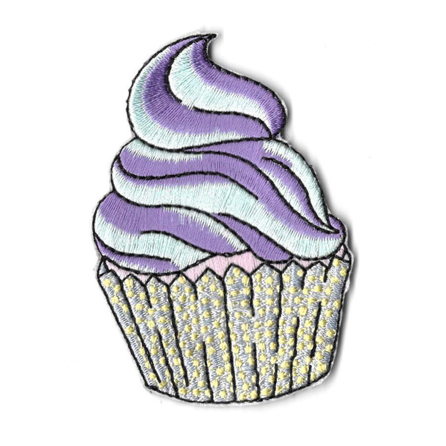 Pastel Cupcake Iron On Patch