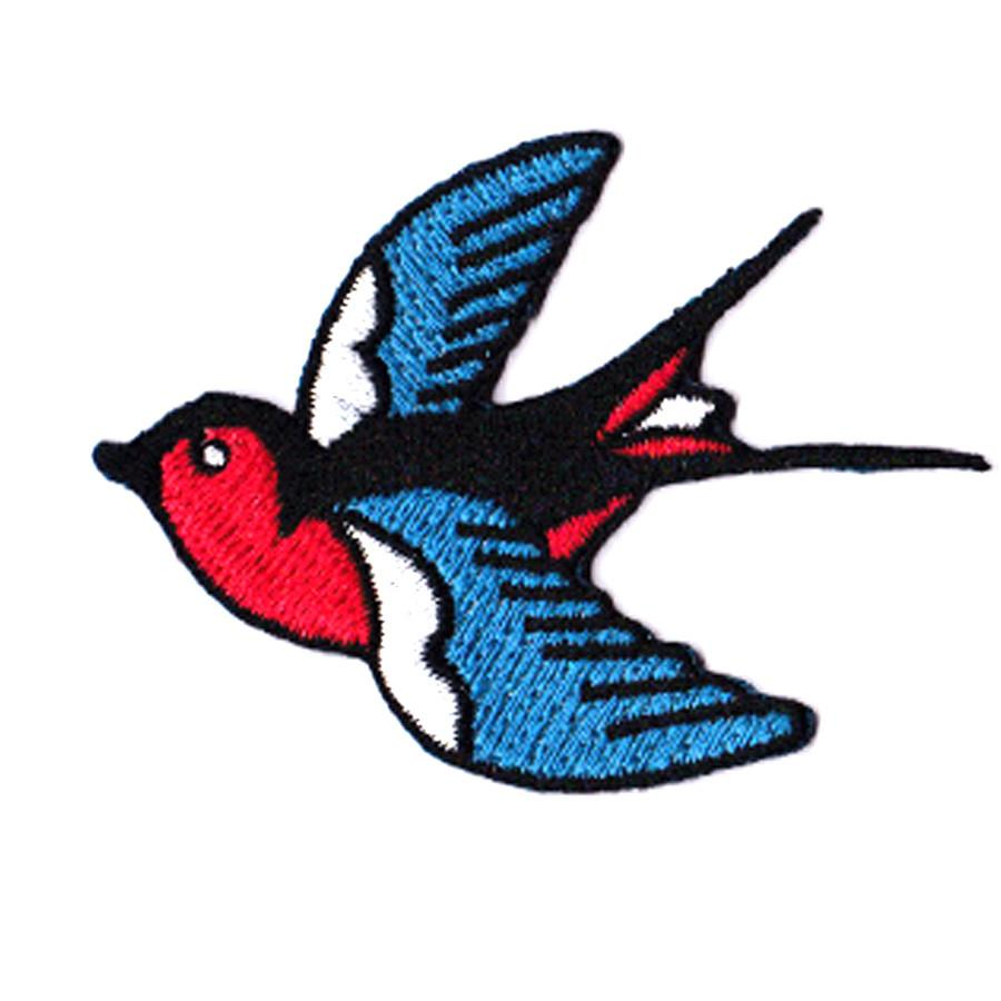Swallow (Right) Iron On Patch