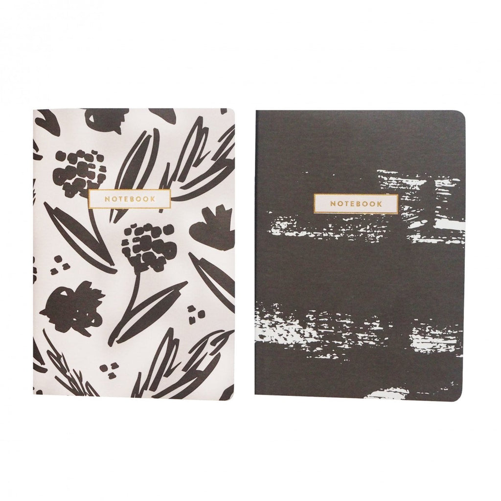 Cream & Ebony Notes (Set of 2)