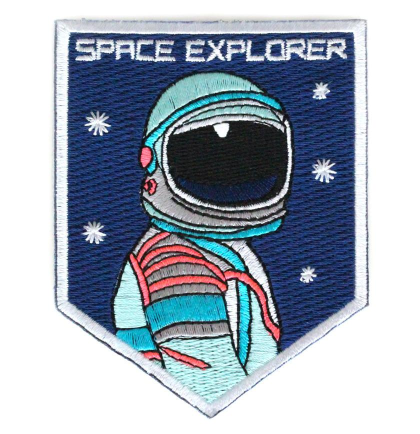 Space Explorer Iron On Patch