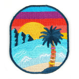 Sunset Beach Iron On Patch