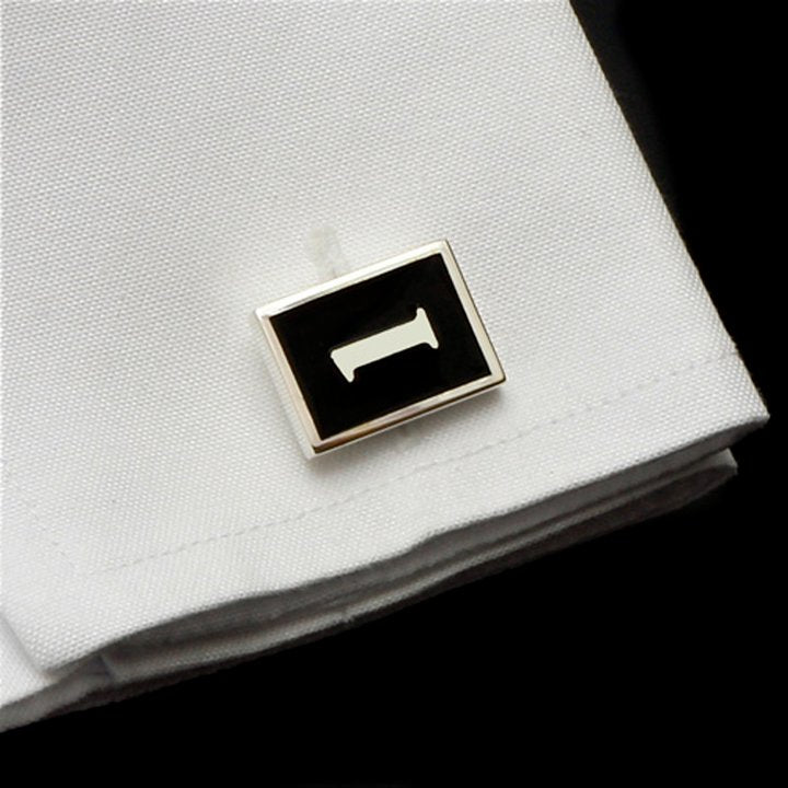 Number 1 Cufflinks - Black