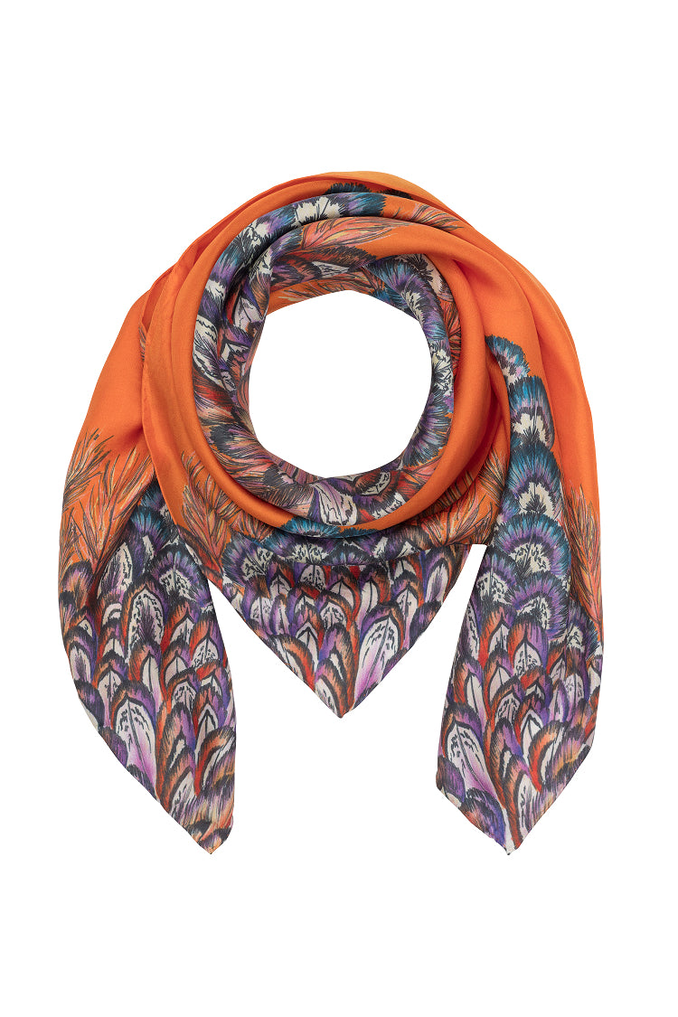Barjis Lorikeet Scarf Orange