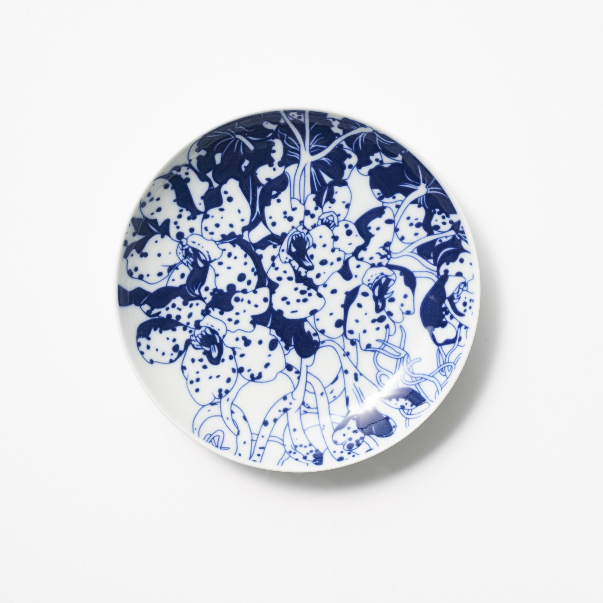 OIC - Tiger Orchid Porcelain Plate