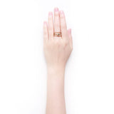 Yulia gold trio ring