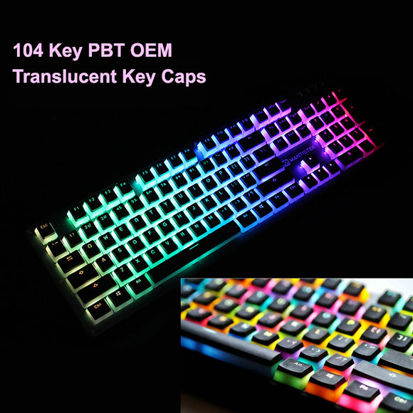 104 Key Caps PBT Milk Pudding Translucent Keycaps Set for Mechanical Keyboard
