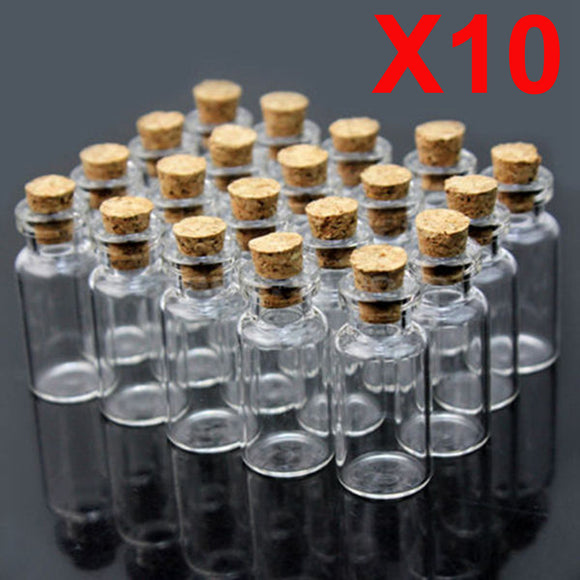 10pcs 10x18mm Small Clear Aromatherapy Essential Oil Glass Bottle Vial Container