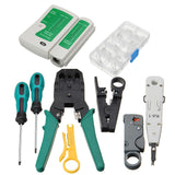 11pcs Network Cable Wire Tester Stripper Crimper Crimping Pliers Punch Tool Kit