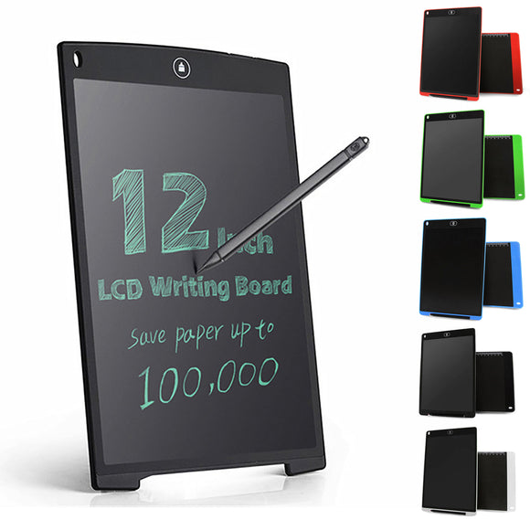 12'' LCD Digital Writing Art Drawing Tablet Message Board + Ruler Mouse Pad Pen