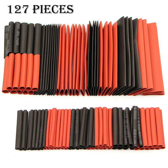 x127 Heat Shrink Heatshrink Tubing Tube Wire Cable Sleeving Insulation Wrap Kit