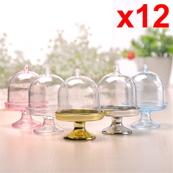 x12 Cake Mini Cupcake Stand Holder Cover Storage Container Party Wedding Display