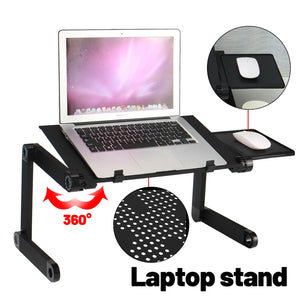 Adjustable Foldable Portable Bed Sofa Cooling Laptop Stand Lap Desk Riser Table