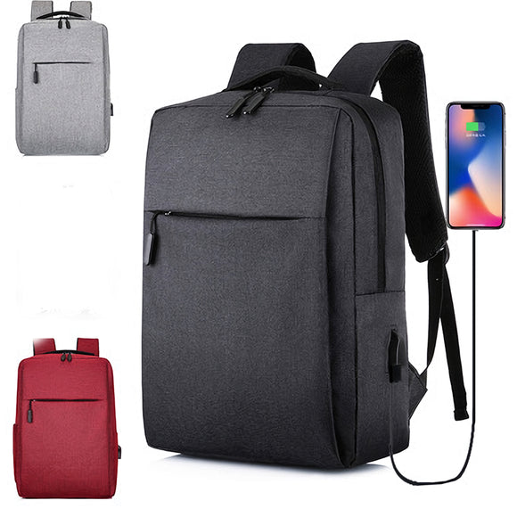 15.6'' Notebook MacBook Laptop Backpack Travel Bag Carry Case with USB Charging
