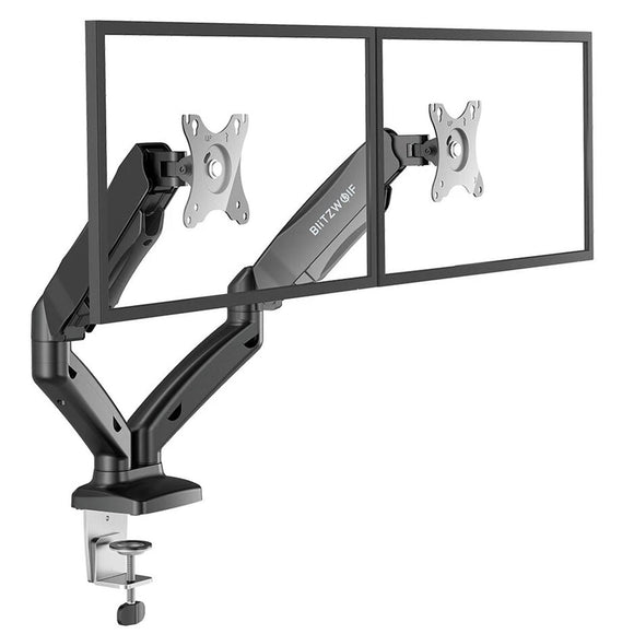 BlitzWolf BW-MS3 360° Dual Arm TV Screen Monitor Stand Holder Desk Mount Bracket