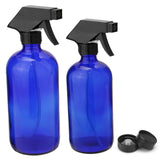 250ML 500ML Blue Glass Spray Bottle Sprayer Cap Trigger Aromatherapy Dispenser