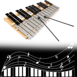 25 Note Glockenspiel Xylophone Musical Piano Mallet Percussion + Bag + Sticks