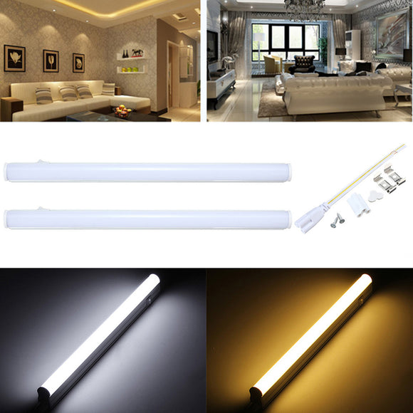 30cm 5W 440LM SMD 2835 T5 LED Fluorescent Tube Warm White Light Lamp with Switch