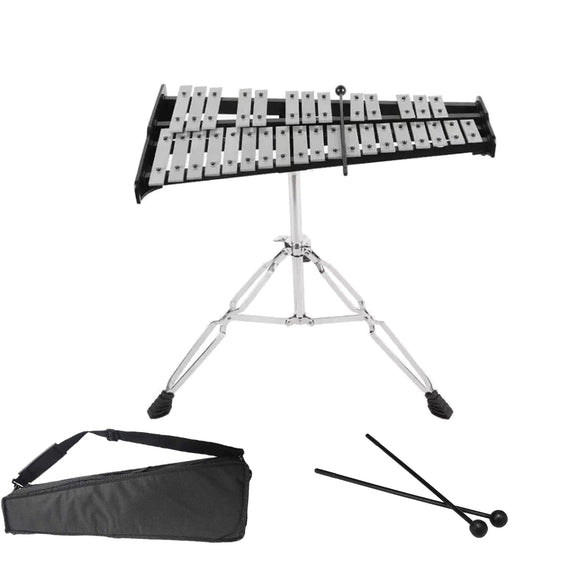 32 Note Professional Xylophone Glockenspiel Piano Percussion with Mallets Bag