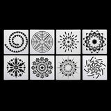 47Pc Mandala Dotting Tools Kit Paint Pen Tray Stencil Painting Template Nail Art