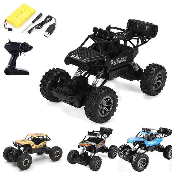 1/10 2.4G RC 4WD 4x4 Big Foot Off Road Truck Rock Crawler Car Vehicle With Light