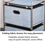 4 Tier Clothes Toy Tower Storage Rack Box Cabinet Organiser Shelf Fabric Drawer