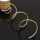 5M Natural Hessian Rope Burlap Ribbon String Roll DIY Craft Wedding Party Decor
