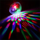 RGB Sound Activated Remote Control LED Crystal Disco Ball Stage Light Effect