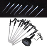 8pcs Waterproof White LED Outdoor Garden Solar Power Pathway Tube Lights Lamp