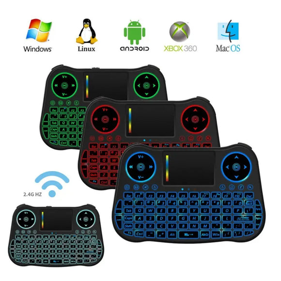 MT08 2.4G Android TV Box PC Mini Remote Control Wireless Air Mouse Keyboard Touchpad